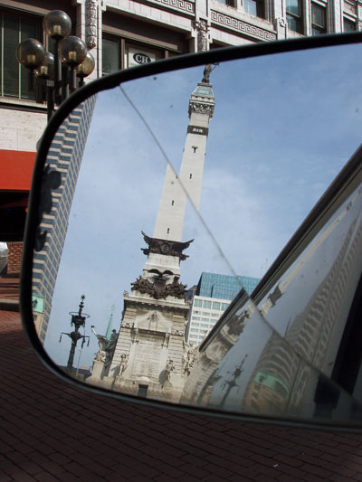 in the center of Indy