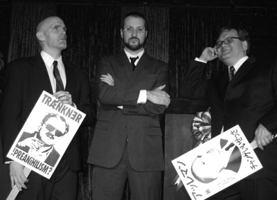 Eric, Alleman, David Mansbach and Nick traenkner @ the Alleman-Traenkner Debates of '08
